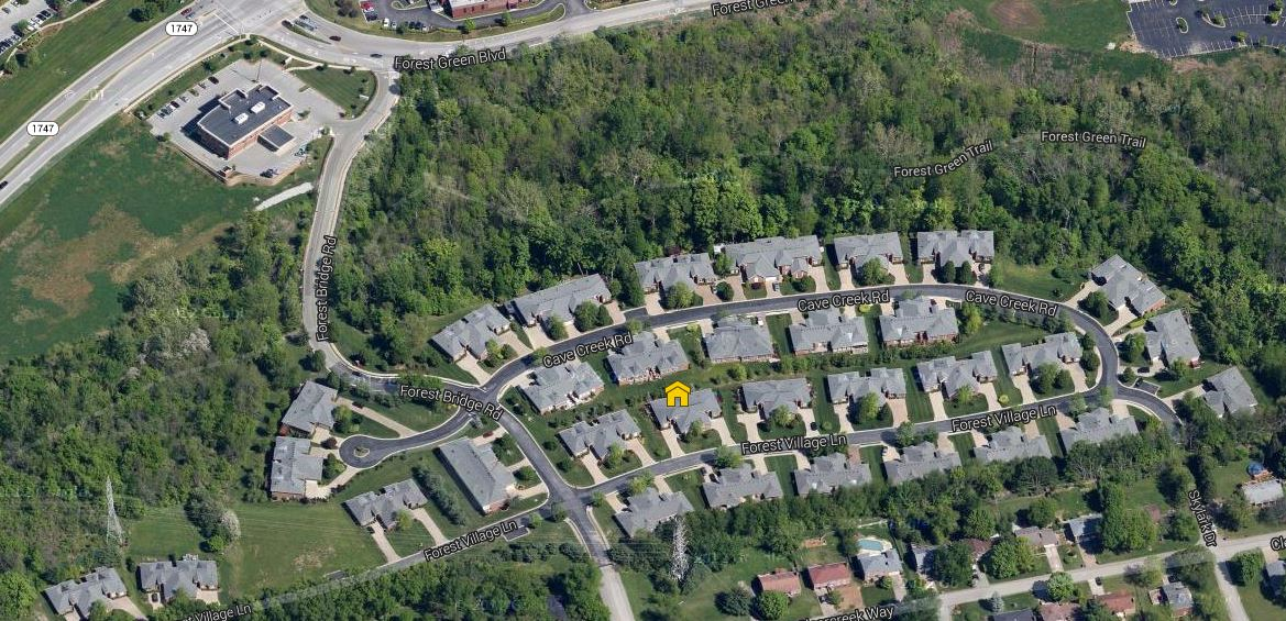Forest Village Patio Homes aerial view