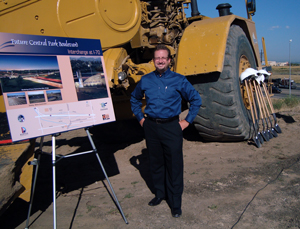 Stapleton Realtor and SDC Board member Michael Kearns at the groundbreaking ceremony