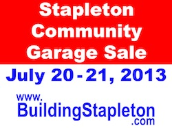 2013 Stapleton Community Garage Sale
