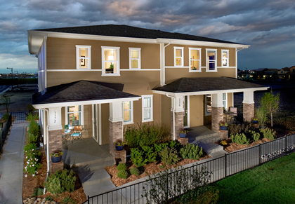 KB Paired Homes at Stapleton - Willow model