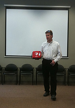 stapleton master community association installs defibrillators at neighborhood pools