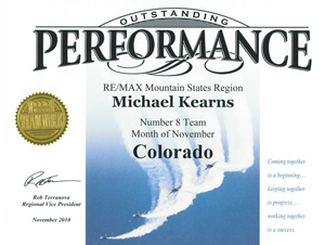 Kearns Team recognized for top performance