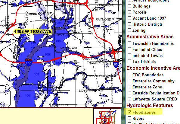 Flood Plain Map for Marion County