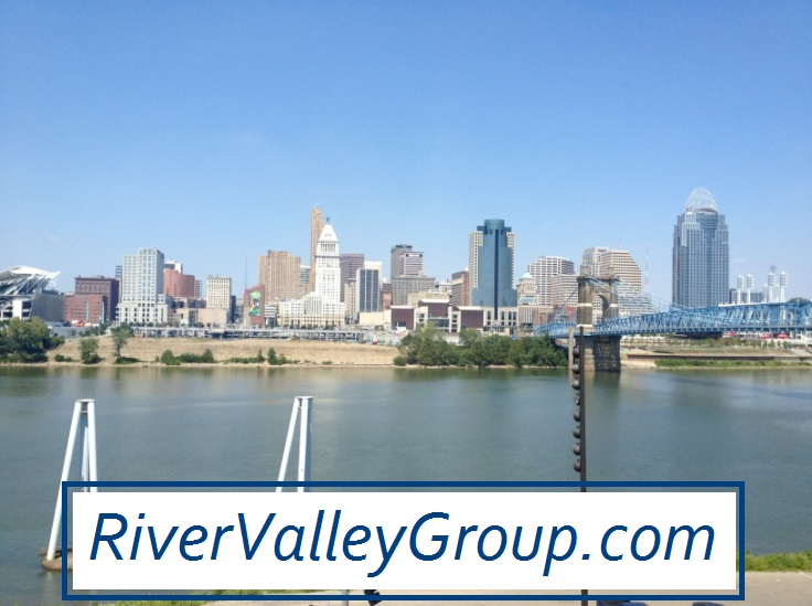 view of Cincinnati skyline from northern kentucky neighborhoods and condos for sale houses