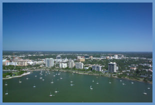 Downtown Sarasota, FL Aerial View