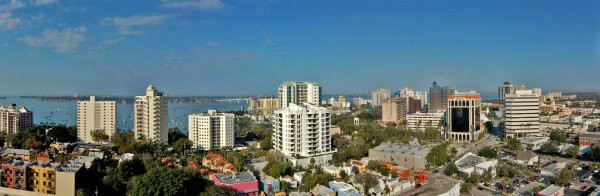 Aerial View of Downtown, Sarasota