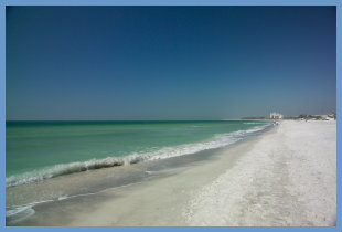 Public beach on Lido Key, Florida