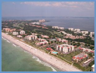 Aerial view of Seaplace on Longboat Key