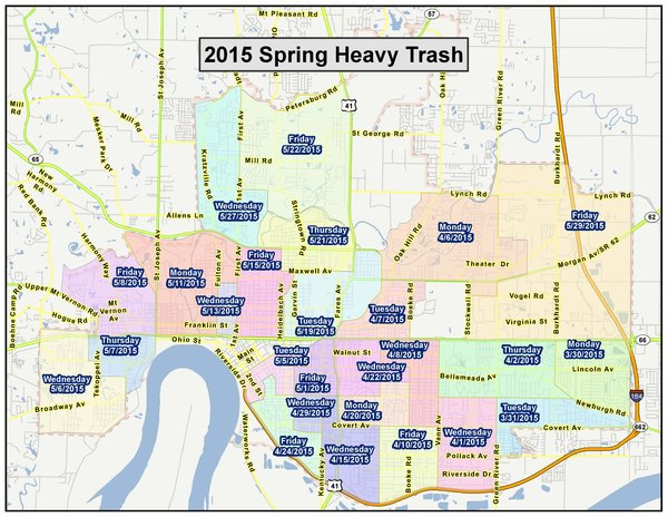 Evansville Spring Heavy Trash Pick Up