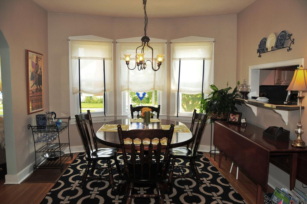Lovely Dining Room with Bay Window