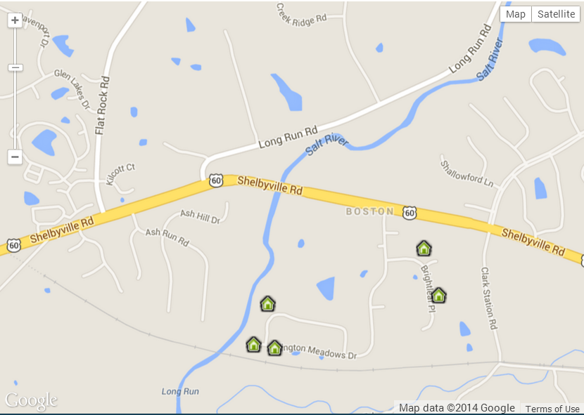 Map of Arlington Meadows Homes For Sale