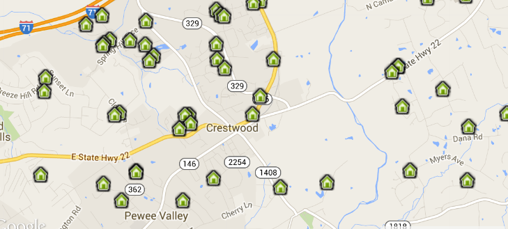 Interactive Map of Homes for Sale in Crestwood