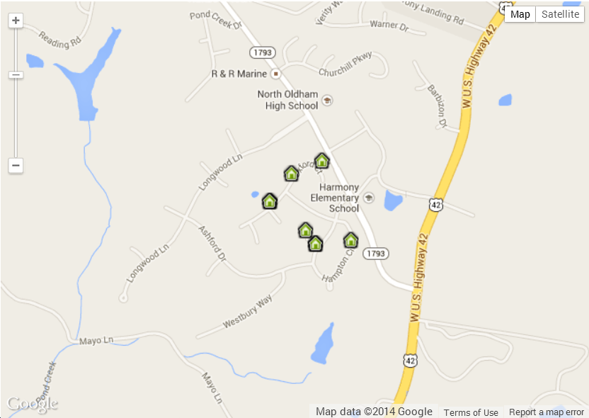 Longwood Homes for Sale Map