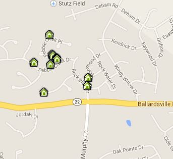Map of Rock Springs homes for sale