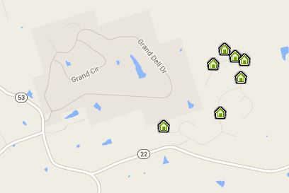 map of ballard woods homes for sale