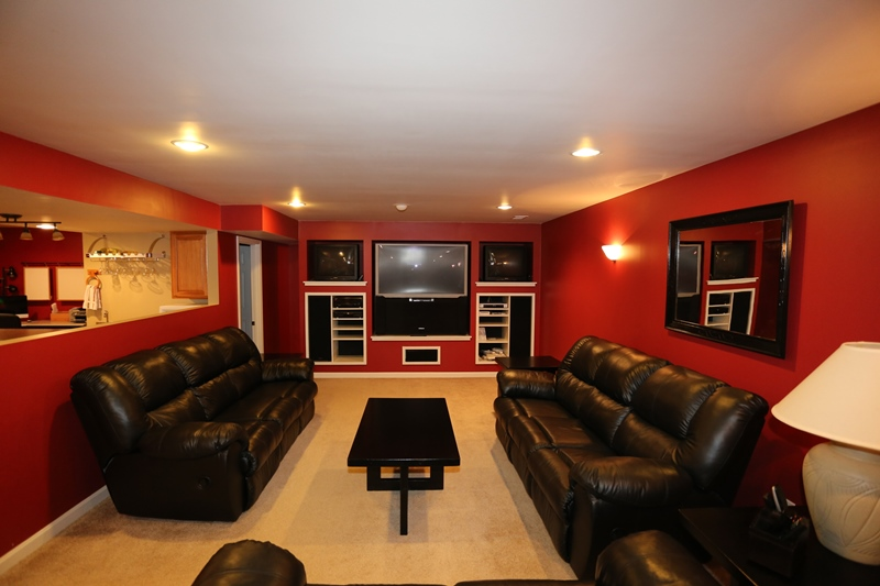 media room at 677 Shady Brook