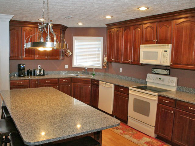Kitchen and island of 1811 Shelbyville Road