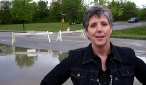 Lynn Thomas at the Louisville Flood of 2011