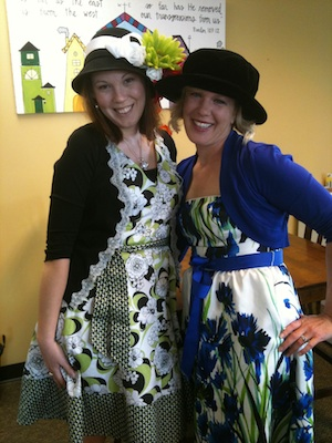 Our Girls in their Derby Hats
