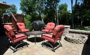 4817 Napa Ridge Way Stone Patio and Fire Pit