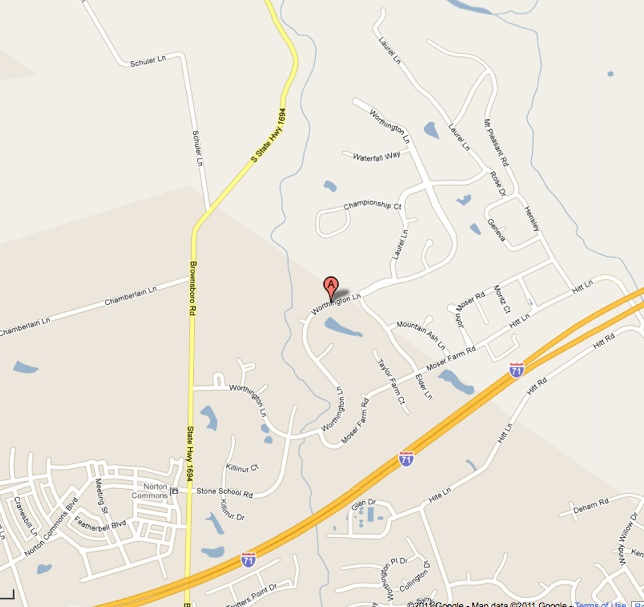 Location of Glen Oaks