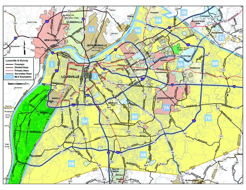 Louisville MLS Area 4 Map