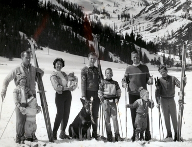 Old School Ski Family