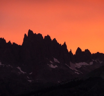 The Minarets at Sunset - Mammoth Mountain Real Estate