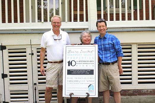 John Stough, Sandy Gulick and Jay Gulick