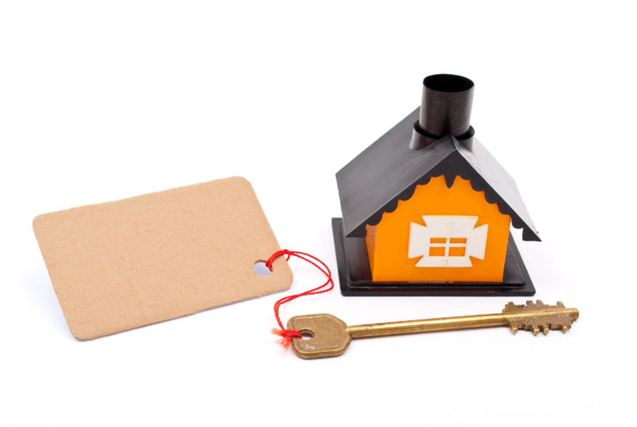 house, keys, price tage