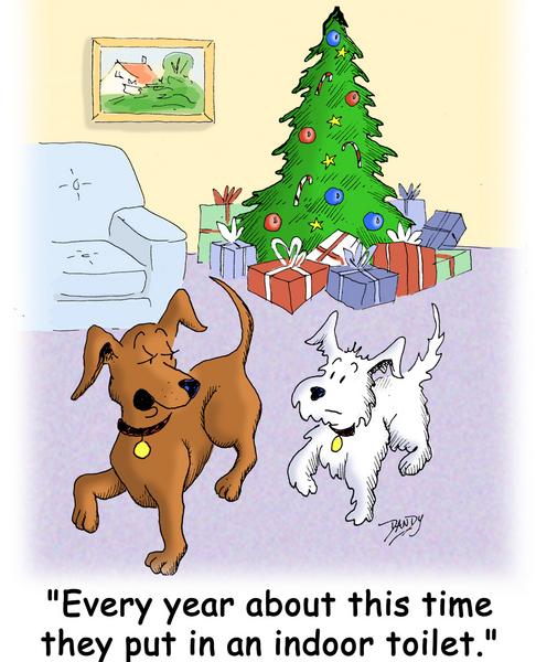 christmas, dogs, tree