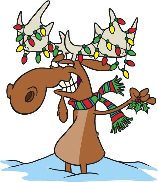 reindeer. lights