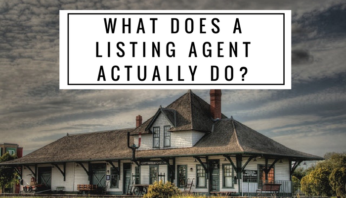 What Does a listing agent actually do?