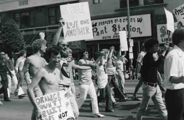 Historical photo of Hollywood Gay Pride parade