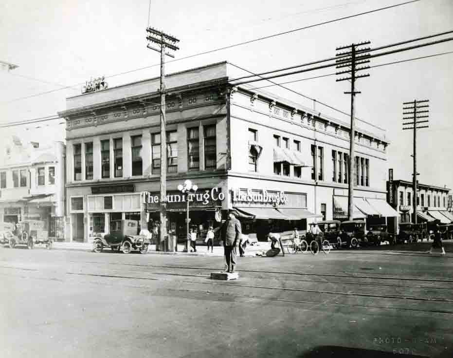 Vintage photo of Hollywood Blvd. & Cahuenga Ave.