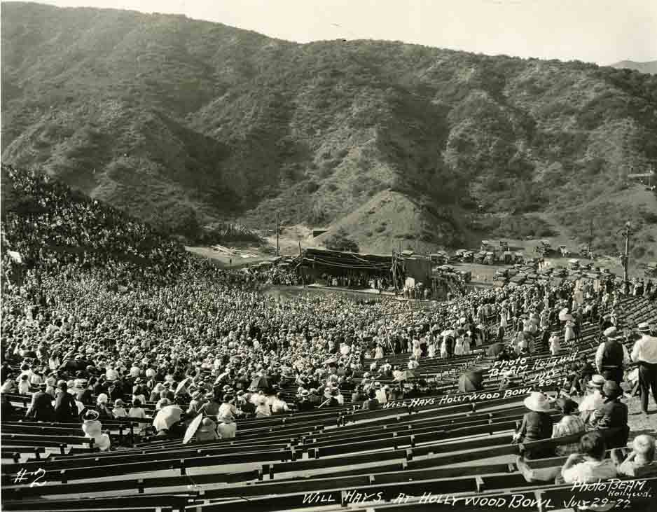 Rare photo of the Hollywood Bowl