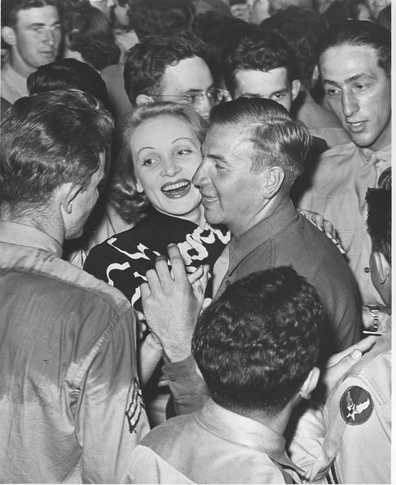Rare photo of Marlene Dietrich at Hollywood Canteen