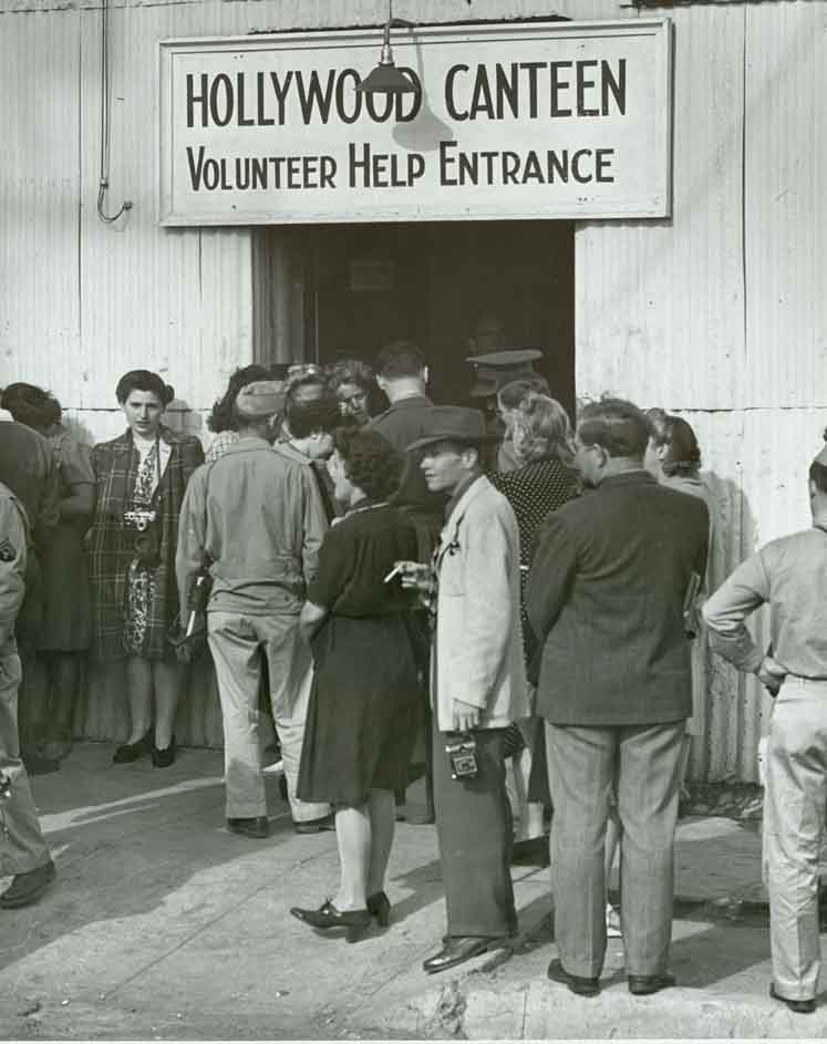 Vintage photo of Hollywood Canteen Entrance