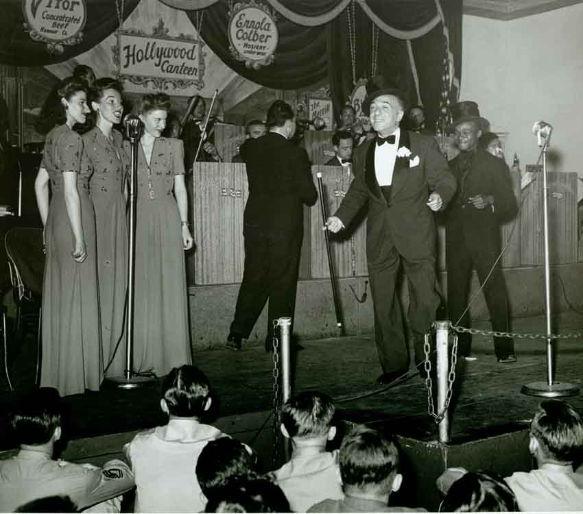 Vintage photo of Ted Lewis at the Hollywood Canteen