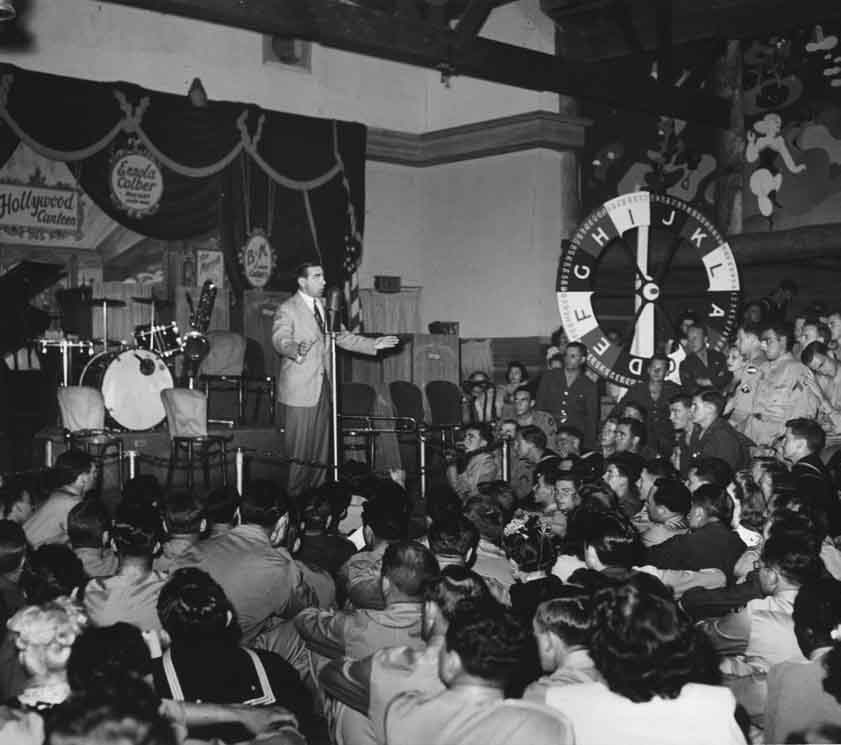Eddie Cantor at the Hollywood Canteen photo