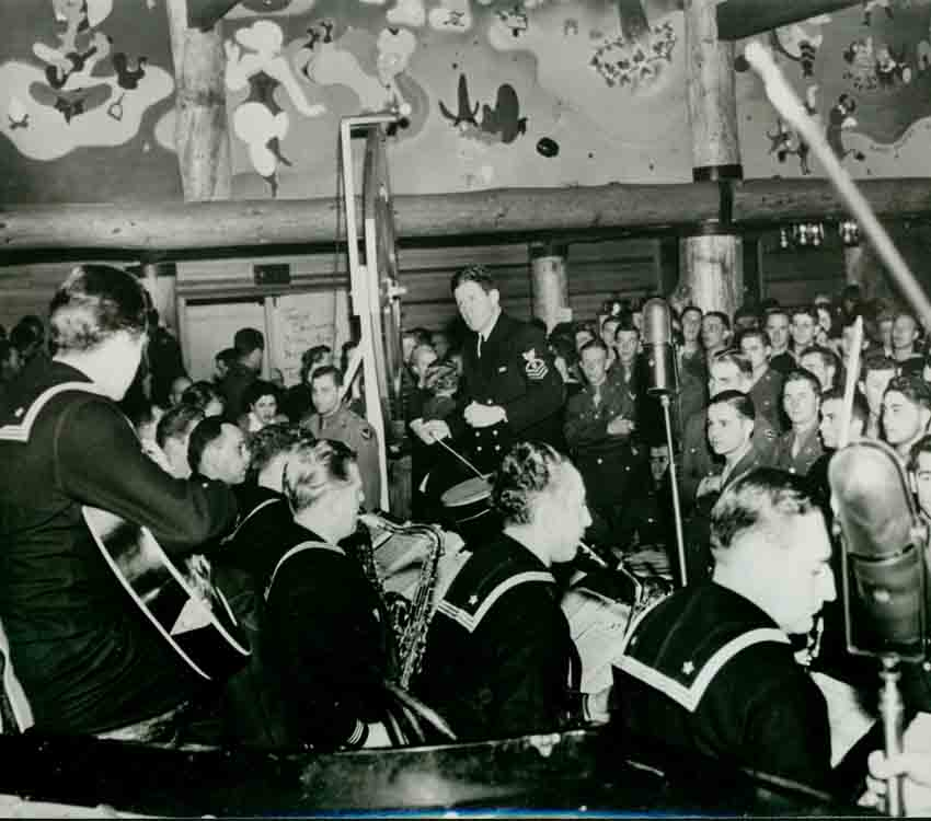 Rudy Vallee at the Hollywood Canteen