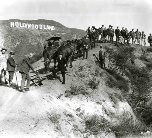 Vintage and Historic Hollywoodland sign photo