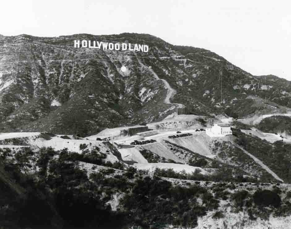 Vintage Hollywoodland Sign photo