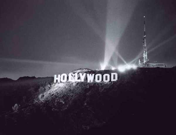 Historical Hollywood sign photo