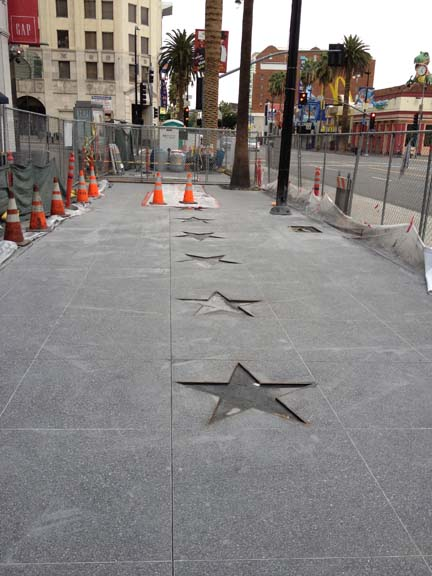 Repairs of Hollywood Walk of Fame