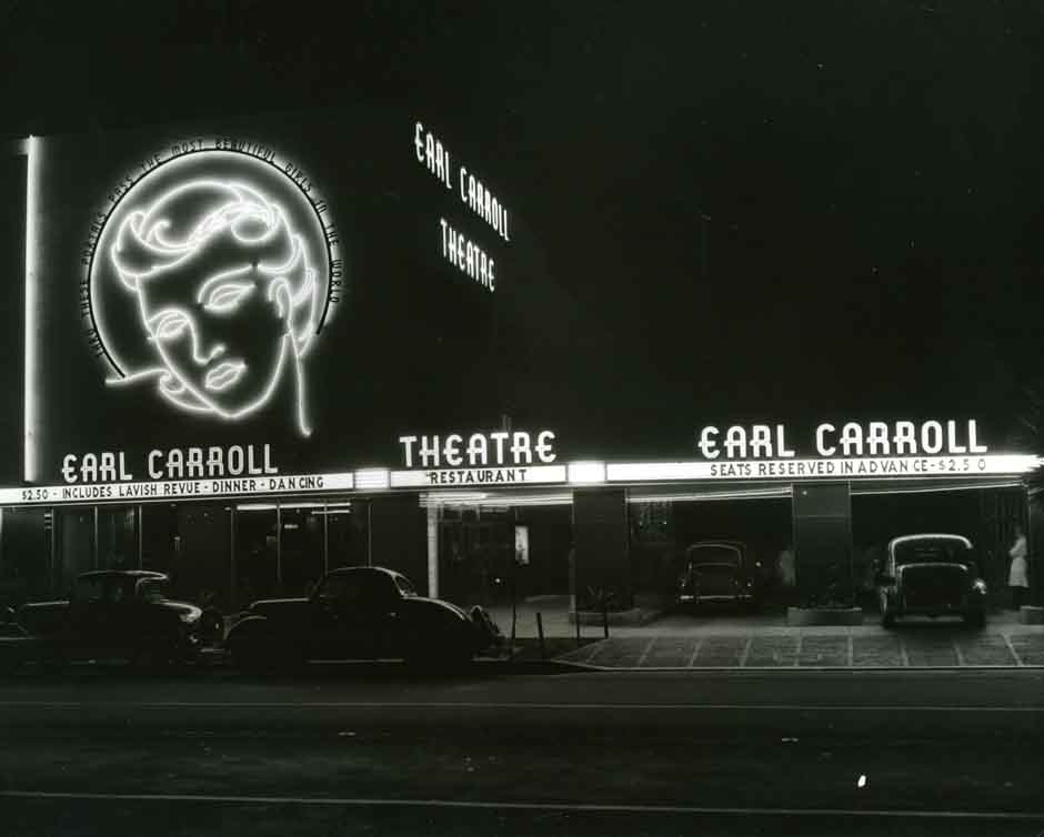 Exterior of Earl Carroll Theater