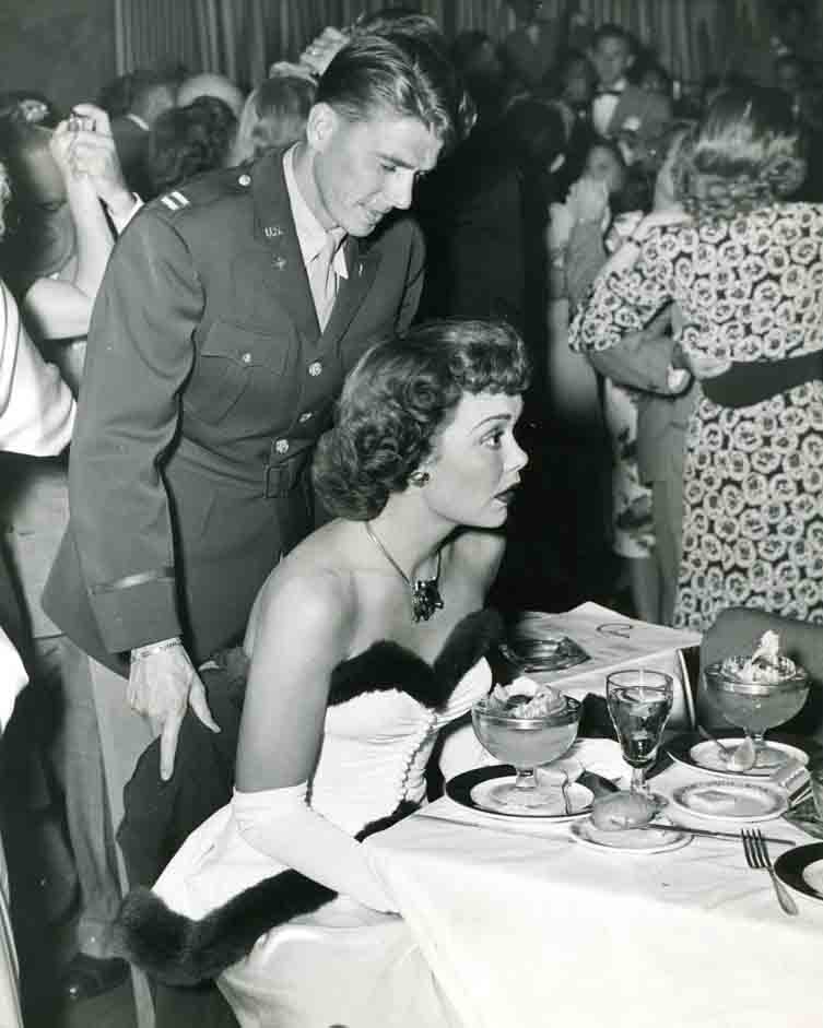 Photo of Ronald Reagan at Ciro's Nightclub