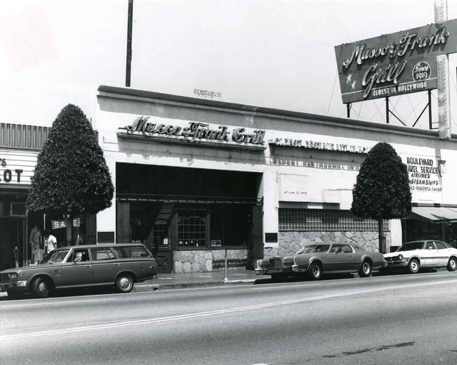 Old photo of Musso & Franks Grill