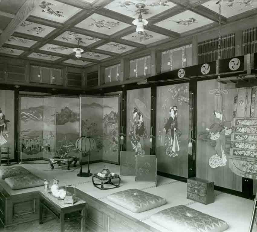1918 Interior of Yamashiro Hollywood