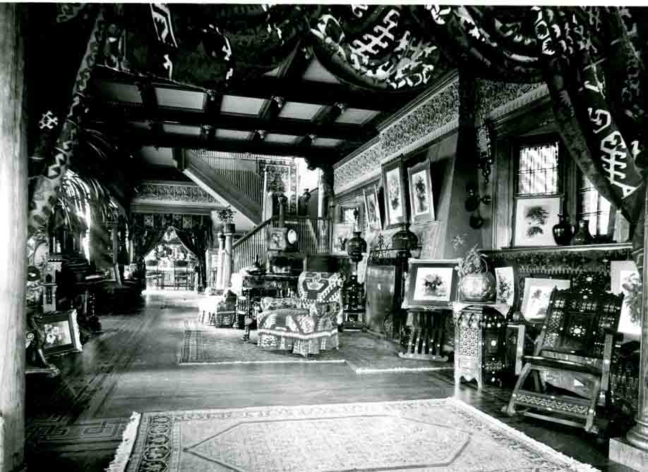 Interior photo of Paul DeLongpre's studio